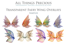 Load image into Gallery viewer, 20 Png TRANSPARENT FAIRY WING Overlays Set 3