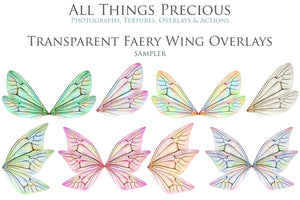 20 Png TRANSPARENT FAIRY WING Overlays Set 23