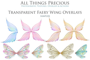 20 Png TRANSPARENT FAIRY WING Overlays Set 24