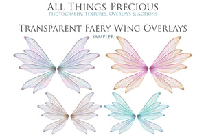 20 Png Digital FAIRY WING Overlays Set 13