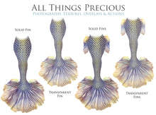 Load image into Gallery viewer, MERMAID TAILS Set 9 - Digital Overlays