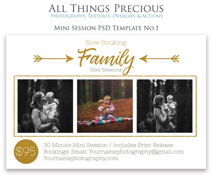 FAMILY MINI SESSION - PSD Template No. 1