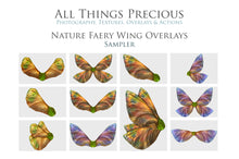 Load image into Gallery viewer, Png NATURE FAIRY WING Overlays