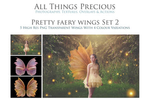 20 Png PRETTY FAIRY WING Overlays Set 2