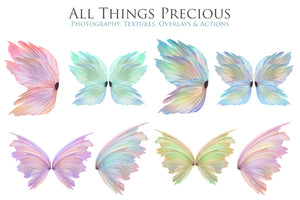 20 Png PRETTY FAIRY WING Overlays Set 1