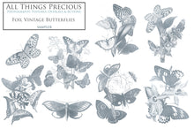 Load image into Gallery viewer, SILVER FOIL VINTAGE BUTTERFLIES - Clipart