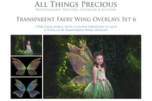 Load image into Gallery viewer, 20 Png FAIRY WING Overlays Set 6