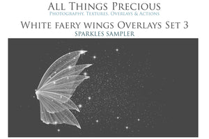 14 Png WHITE FAIRY WING Overlays Set 3