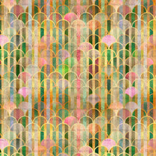 Load image into Gallery viewer, TEXTURED PATTERN - Gold, Green & Pink - Digital Papers