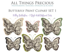 Load image into Gallery viewer, BUTTERFLY PRINT CLIPART Set 1 - Clipart