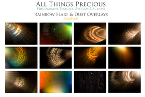 RAINBOW LENS / SUN FLARE Digital Overlays