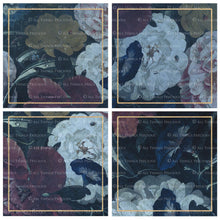 Load image into Gallery viewer, OLD MASTERS FLORAL Set 1 - BLUE - Digital Papers