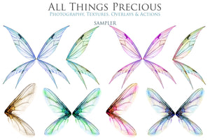 20 Png Digital PIXIE Fairy WING Overlays Set 2
