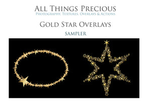 40 GOLD FOIL STAR Digital Overlays