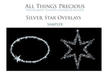 Load image into Gallery viewer, 40 SILVER FOIL STAR Digital Overlays