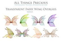 Load image into Gallery viewer, 20 Png TRANSPARENT FAIRY WING Overlays Set 5