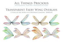 Load image into Gallery viewer, 20 Png TRANSPARENT FAIRY WING Overlays Set 8