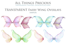 Load image into Gallery viewer, 20 Png TRANSPARENT FAIRY WING Overlays Set 9