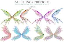 Load image into Gallery viewer, 20 Png TRANSPARENT FAIRY WING Overlays Set 32