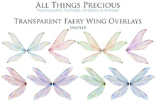 Load image into Gallery viewer, 20 Png TRANSPARENT FAIRY WING Overlays Set 13