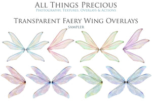 20 Png TRANSPARENT FAIRY WING Overlays Set 13