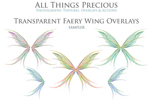 20 Png TRANSPARENT FAIRY WING Overlays Set 22