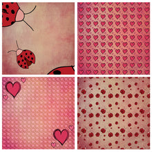 Load image into Gallery viewer, LOVE BUG Digital Papers Set 4