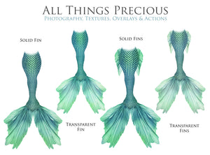 MERMAID TAILS Set 8 - Digital Overlays