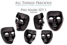 Load image into Gallery viewer, Masquerade Ball MASKS Set 1 Digital Overlays for Photoshop