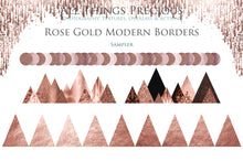 Load image into Gallery viewer, MODERN ROSE GOLD BORDERS - Clipart
