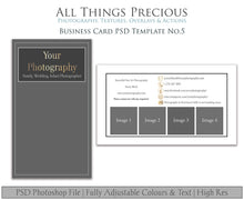 Load image into Gallery viewer, BUSINESS CARD - PSD Template No. 5
