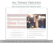 Load image into Gallery viewer, GIFT CERTIFICATE - PSD Template No. 9