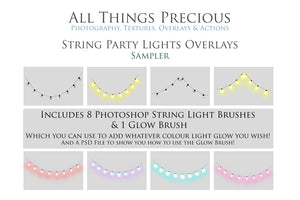 STRING LIGHTS - FESTOON - Digital Overlays