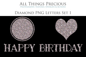 DIAMOND LETTERS - Clipart