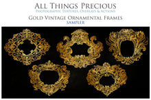 Load image into Gallery viewer, VINTAGE ORNAMENTAL GOLD Frames - Clipart
