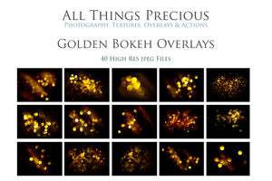 GOLDEN BOKEH Digital Overlays