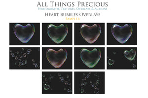 HEART BUBBLE Digital OVERLAYS