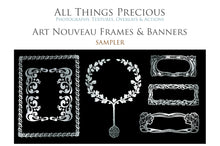 Load image into Gallery viewer, ART NOUVEAU SILVER FRAMES