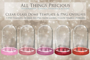 CLEAR GLASS DOME Png Digital Overlays and PSD Template