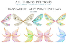 Load image into Gallery viewer, 20 Png TRANSPARENT FAIRY WING Overlays Set 28