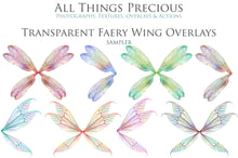 Load image into Gallery viewer, 20 Png TRANSPARENT FAIRY WING Overlays Set 31