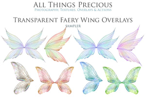 20 Png TRANSPARENT FAIRY WING Overlays Set 21