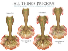 Load image into Gallery viewer, MERMAID TAILS Set 4 - Digital Overlays