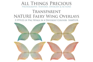20 Png TRANSPARENT NATURE FAIRY WING Overlays Set 2