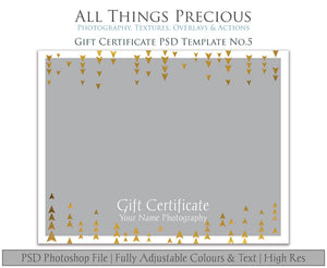 GIFT CERTIFICATE - PSD Template No. 5