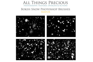 BOKEH SNOW Photoshop Brushes