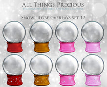 Load image into Gallery viewer, SNOW GLOBE Png Digital Overlays and PSD Template No. 12
