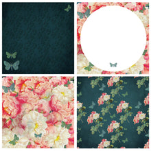 Load image into Gallery viewer, VINTAGE ROSE & BUTTERFLY Digital Papers Set 1