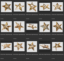 Load image into Gallery viewer, 3D GOLD STAR Digital Overlays