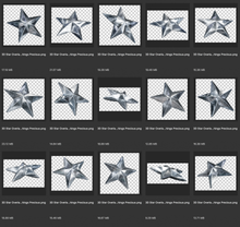 Load image into Gallery viewer, 3D SILVER STAR Digital Overlays